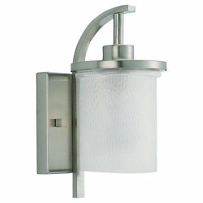 Sea Gull 88116-962 12-Inch Outdoor Wall Light, Brushed Nickel