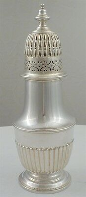 Large and Heavy Victorian Silver Sugar Caster, London 1895, 218mm, 282g.