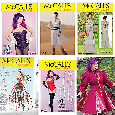 New McCalls Cosplay Costume Misses McCall's Sewing Pattern You Pick
