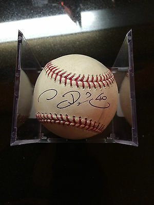 Rare Chien-Ming Wang Game Used Signed 2012 Baseball- Harper's Teammate -Taiwan