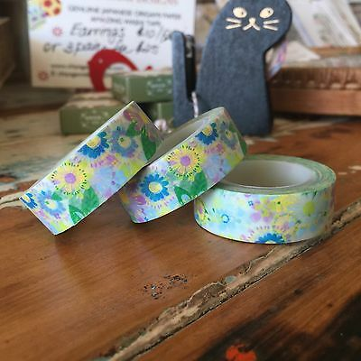 Washi Tape Floral Winter 15Mm Wide X 10Mtr Scrap Craft Wrap Planner Mail Art