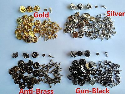 brass tie tacks tac pin backs butterfly clasp clutch jewelry findings brooches