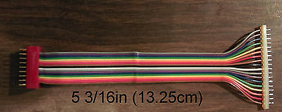 "18-pin Rainbow Ribbon cable, DIP to SIP - 5 3/16"" long W/wires in line hobbyist"