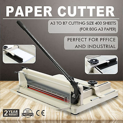 """17"""" Manual Guillotine Paper Cutter Trimmer Commercial Heavy Duty A3 To B7 Size"""