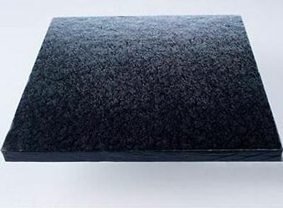 "12"" inch Black Square CAKE BOARD / DRUM & BOX Next Day Depstach"
