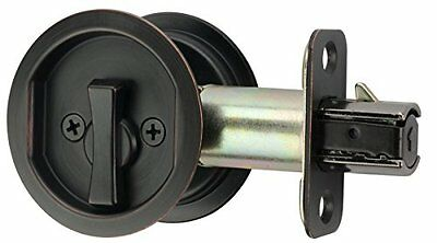 Citiloc Round Bed / Bath Privacy Pocket Door Latch Oil Rubbed Bronze, New, Free
