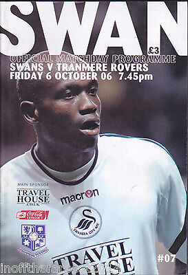 2006/07 SWANSEA CITY V TRANMERE ROVERS 06-10-2006 League 1