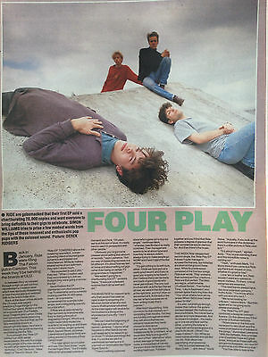 """RIDE # ORIGINAL ARTICLE / INTERVIEW FROM APRIL 1990 # 16""""x 11"""""""