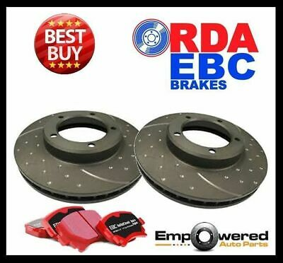 DIMPLED SLOTTED Audi A3 2.0L 2008 on FRONT DISC BRAKE ROTORS + EBC PADS RDA7229D