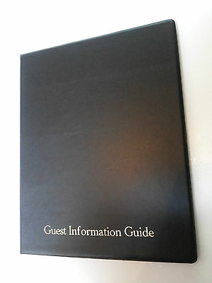 Qty 10 (Ten) Guest Information Guide Pvc Folder With 25 Pockets Ref Black/Gold