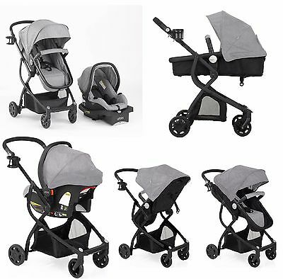 Baby Travel System Stroller Car Seat Newborn Carrier Carriage Buggy Bassinet 4-1