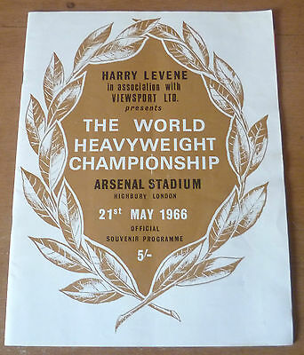 1966 - Muhammad Ali v Henry Cooper, World Heavyweight Fight Programme