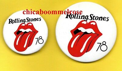 Rolling Stones the 1978 tour usa pinback button badge pin  BOTH SIZES 1 PRICE
