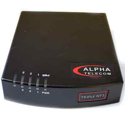 Alpha Telecom Triple NT1 w/ cable and power supply UT-3620B