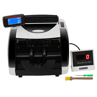 New Money Bill Counter Counting Machine Counterfeit Detector UV & MG Cash Bank