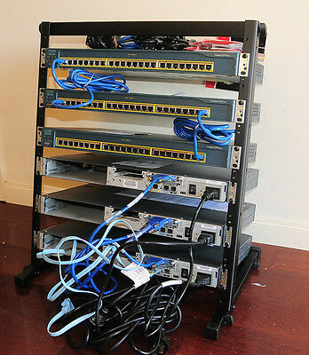 CISCO CCNA Lab Kit CISCO2610XM WS-C2950-24 WIC-2A/S+12U Rack Stand 6MthWtyTaxInv