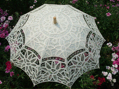 New Parasols Ivory Lace Sunshade Fashion Wedding Court Bridal Gown Accessories