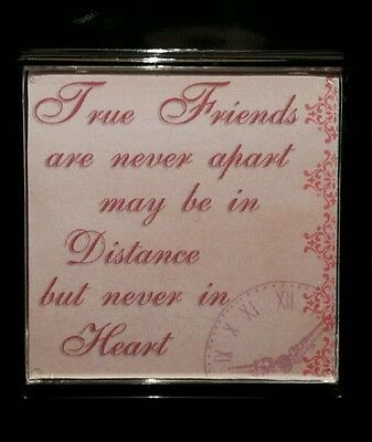 FRIDGE MAGNET Quotes Saying Gift Present Novelty Funny TRUE FRIENDS