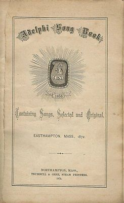 1872 Booklet - The Adelphi Song Book - 31 Pages