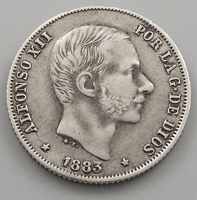 PHILLIPINES 20 CENTIMOS 1883 ALFONSO XII  #ha 075