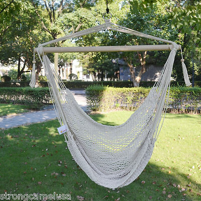 BRAND NEW Hanging Swing Cotton Rope Hammock Chair Patio Porch Garden Outdoor