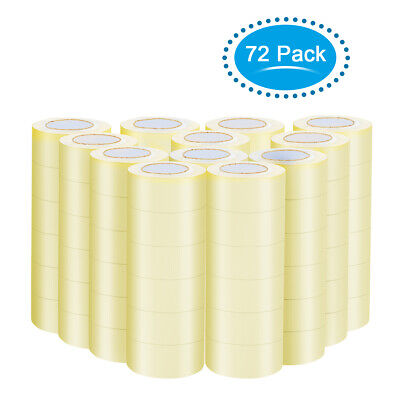"72 Rolls 1.9""x110 Yards(330' ft) Box Carton Sealing Packing Package Tape Clear"