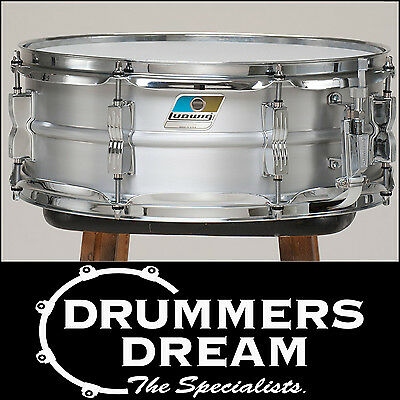 """Brand New Ludwig Acrolite 14"""" x 5"""" Aluminum Snare Drum With Chrome Hardware"""
