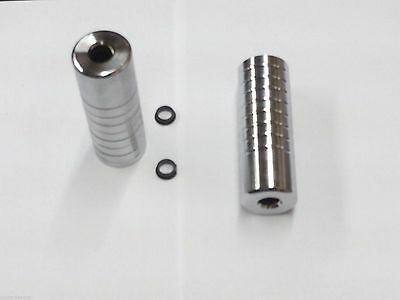 Pair Of Silver Premier BMX Stunt Pegs - Will Fit 10mm & 14mm Axles