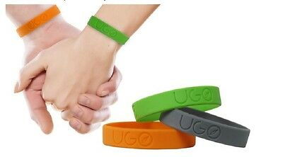 UGO Wrist Bands Ankle Anti Bug Insect Mosquito Repellent Citronella Infused M/L