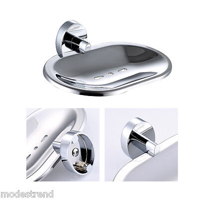 Finether Solid Brass Wall Mounted Soap Dish Holder Bathroom Accessories Chrome
