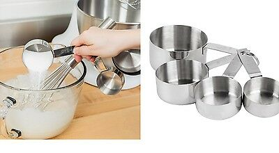 Quality Food Preparation cooking Measuring Cup 4-Piece Standard Stainless Steel