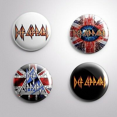 4 DEF LEPPARD - Pinbacks Badge Button Pin 25mm 1''