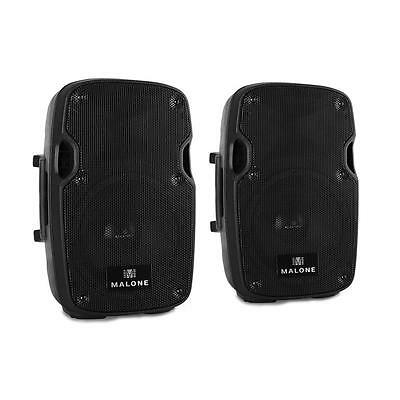 2X 300W Max Dj Speakers Pair Active Monitors Stage Speaker * Free P&p Uk Offer *