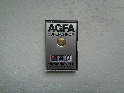 Vintage Audio Cassette AGFA Superchrom 60+6 * Rare From 1979 * Unsealed