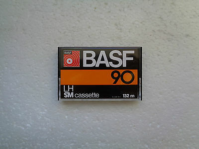 Vintage Audio Cassette BASF LH SM 90 * Rare From 1977 * 2nd Version