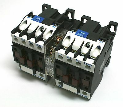 C-12D10R Reversing Motor Contactor 10HP 110V Electrical Mechanical Interlock NEW