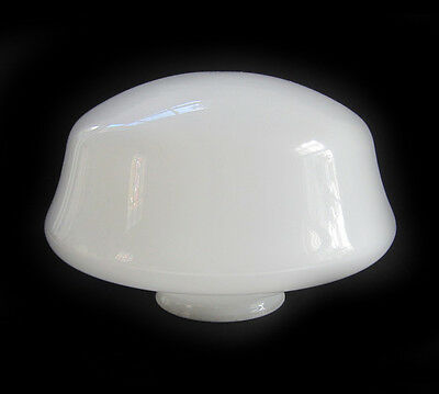 Vintage Milk Glass Pendant Light School House Glass Globe Shade