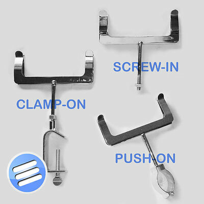 Chrome Display Price Ticket Card Holder Clothes Rail *Clamp On / Screw / Push In