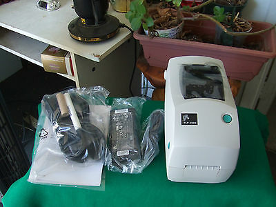 Zebra TLP2824 Barcode Label Thermal Printer Serial and USB Interfaces Open box
