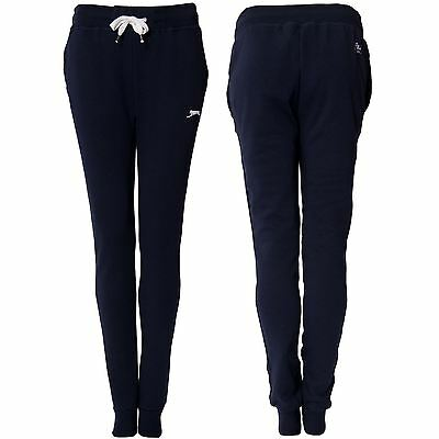 Slazenger Womens Slim Fit Cuffed Fleece Track Suit Bottoms Ladies Joggers Pants