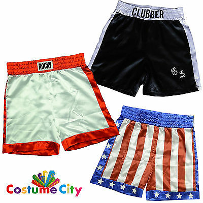Adult Official Licensed Rocky Boxing Trunks Shorts Fancy Dress Costume Accessory
