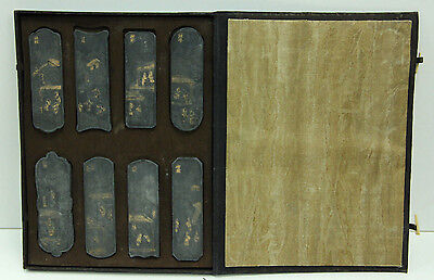 Chinese Ink Stones Original Box Signed Gilded Calligraphy Tools Inkstick #3