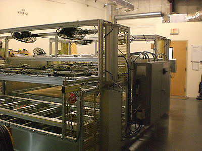 "SIBE AUTOMATION VACUUM FORMING MACHINE 36"" x 96""  2 STATION TOP BOTTOM HEATERS"