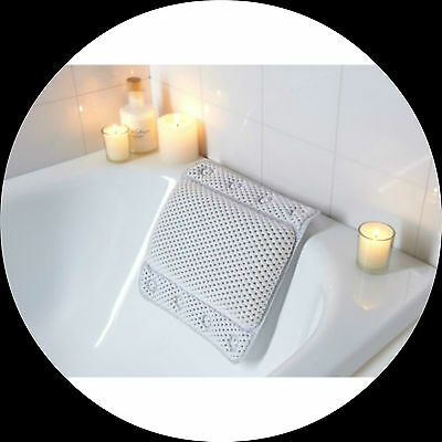 Bath Pillow Cushion Comfy Strong Grip Non Slip White  Bath Pillow With Wings