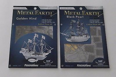 Fascinations SHIPS Laser Cut 3D Models ~ Lot of 2 SHIPS by Metal Earth NEW