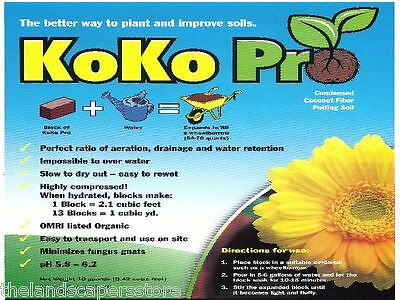 KoKo Pro 1.4lb Condensed Coconut Fiber Potting Soil