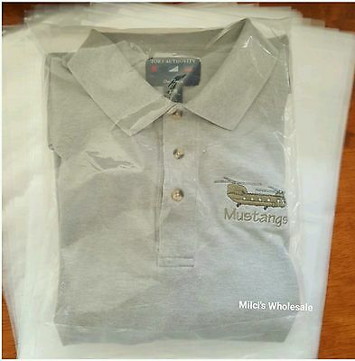 """200 Qty. 12""""x 16"""" Clear Poly Plastic T Shirt Bags with 3' Flap Lock"""