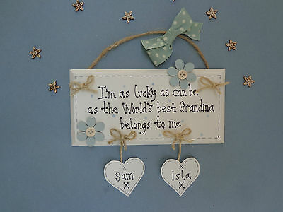GRANDPARENTS Personalised Handmade Wooden Plaque Gift