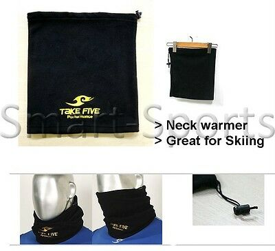 New Black Windproof Neck Warmer Fleece Scarf Motorcycle Ski Thermal Winter Tube