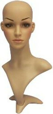 Female Mannequin Head Bust Wig Hat Jewelry Display #VF004